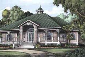 Cottage Exterior - Front Elevation Plan #115-132