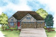 Craftsman Style House Plan - 2 Beds 2 Baths 1620 Sq/Ft Plan #20-2115 Exterior - Front Elevation