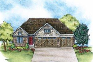 Craftsman Exterior - Front Elevation Plan #20-2115
