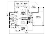 Craftsman Style House Plan - 5 Beds 3.5 Baths 3521 Sq/Ft Plan #51-541 Floor Plan - Main Floor Plan