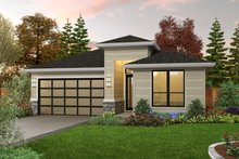 House Plan Design - Contemporary Exterior - Front Elevation Plan #48-1030