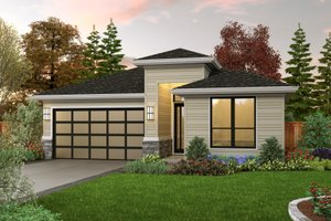 Home Plan - Contemporary Exterior - Front Elevation Plan #48-1030