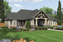 Dream House Plan - Craftsman Exterior - Rear Elevation Plan #132-549