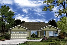 Architectural House Design - European Exterior - Front Elevation Plan #417-848