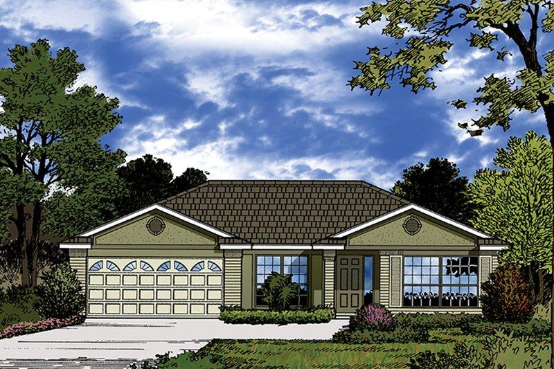 House Plan Design - European Exterior - Front Elevation Plan #417-848