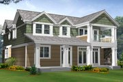 Craftsman Style House Plan - 3 Beds 3.5 Baths 2823 Sq/Ft Plan #132-134 Exterior - Rear Elevation