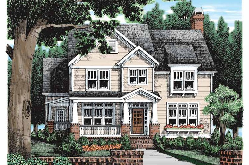 Craftsman Exterior - Front Elevation Plan #927-935