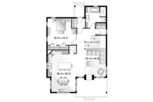 European Floor Plan - Main Floor Plan Plan #23-2494