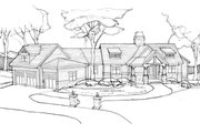 Craftsman Style House Plan - 4 Beds 3 Baths 3827 Sq/Ft Plan #928-253 Exterior - Front Elevation