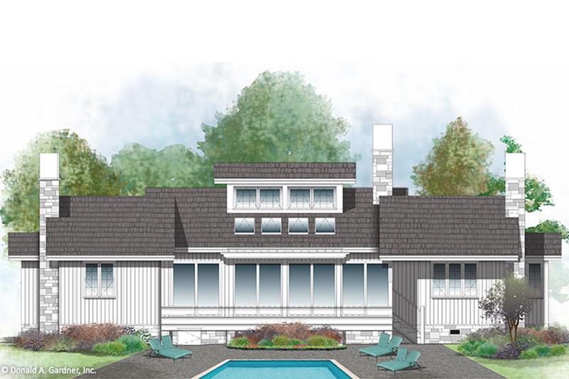 Farmhouse Exterior - Rear Elevation Plan #929-35 - Houseplans.com