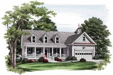 Country Exterior - Front Elevation Plan #927-559