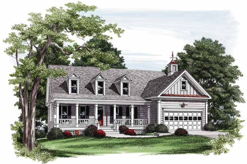 Home Plan - Country Exterior - Front Elevation Plan #927-559