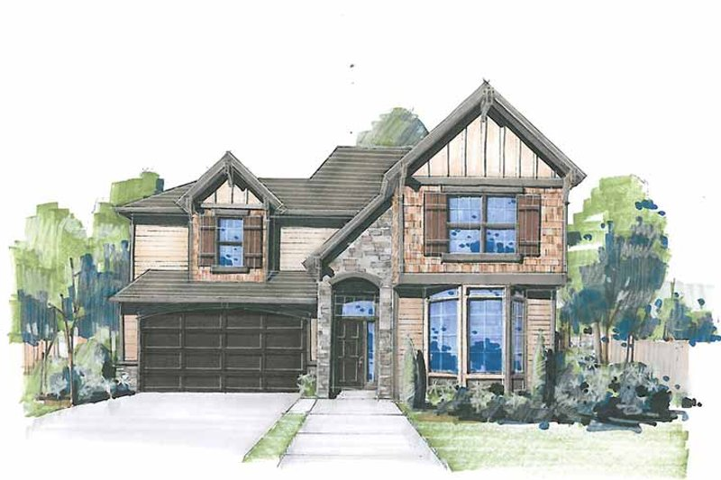 Craftsman Exterior - Front Elevation Plan #509-307 - Houseplans.com