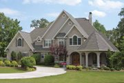 Country Style House Plan - 5 Beds 3.5 Baths 5003 Sq/Ft Plan #11-275 Exterior - Front Elevation