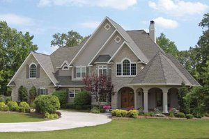Dream House Plan - Country Exterior - Front Elevation Plan #11-275