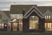 Classical Exterior - Rear Elevation Plan #937-23