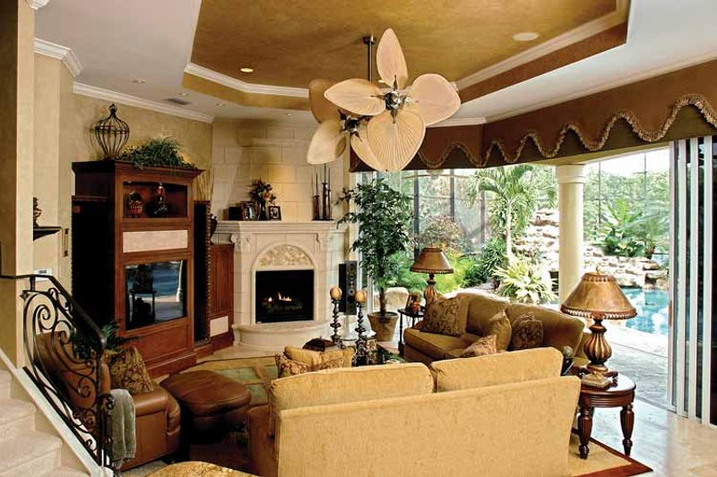 Mediterranean Interior - Family Room Plan #1017-2 - Houseplans.com