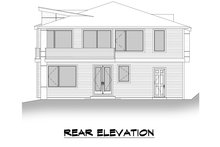 House Plan Design - Contemporary Exterior - Rear Elevation Plan #1066-126
