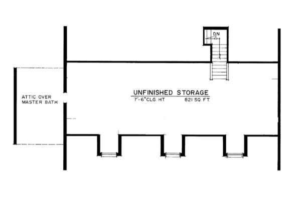 Colonial Floor Plan - Other Floor Plan Plan #1016-100