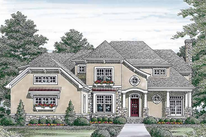 Country Exterior - Front Elevation Plan #453-452