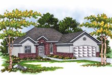 Ranch Exterior - Front Elevation Plan #70-1329