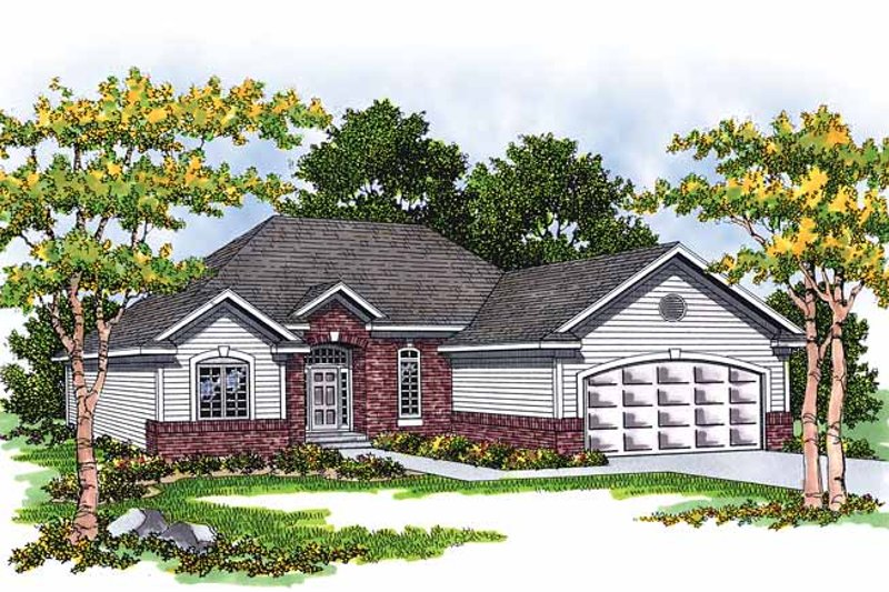 Ranch Exterior - Front Elevation Plan #70-1329 - Houseplans.com