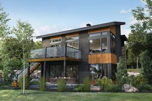 Cottage Exterior - Front Elevation Plan #25-4930