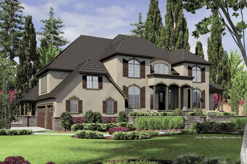 European Exterior - Front Elevation Plan #48-851 - Houseplans.com