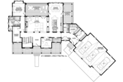 Country Style House Plan - 4 Beds 3.5 Baths 3829 Sq/Ft Plan #928-294 Floor Plan - Main Floor Plan