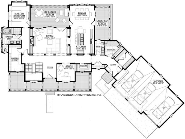 Country Floor Plan - Main Floor Plan #928-294