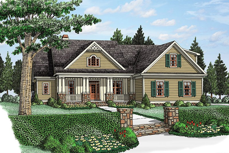 House Plan Design - Traditional Exterior - Front Elevation Plan #927-968
