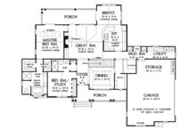 Craftsman Floor Plan - Main Floor Plan Plan #929-919