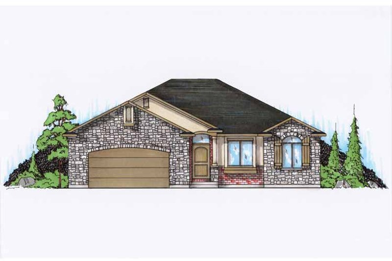 Ranch Exterior - Front Elevation Plan #945-87 - Houseplans.com