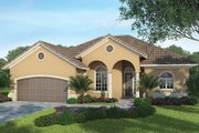 Mediterranean Style House Plan - 3 Beds 2.5 Baths 1872 Sq/Ft Plan #938-33 Exterior - Front Elevation