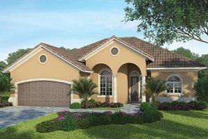Architectural House Design - Mediterranean Exterior - Front Elevation Plan #938-33