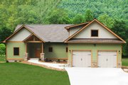 Craftsman Style House Plan - 3 Beds 2.5 Baths 2235 Sq/Ft Plan #932-10 Exterior - Front Elevation