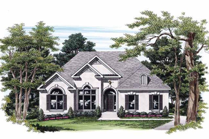 House Plan Design - Mediterranean Exterior - Front Elevation Plan #927-231