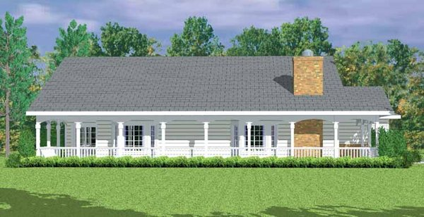 Country Floor Plan - Other Floor Plan Plan #72-1081