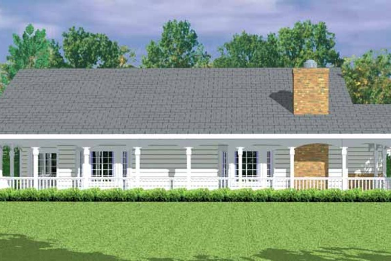 Architectural House Design - Country Exterior - Other Elevation Plan #72-1081
