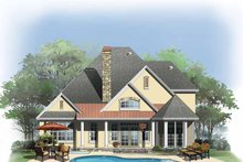 Home Plan - Cottage Exterior - Rear Elevation Plan #929-843