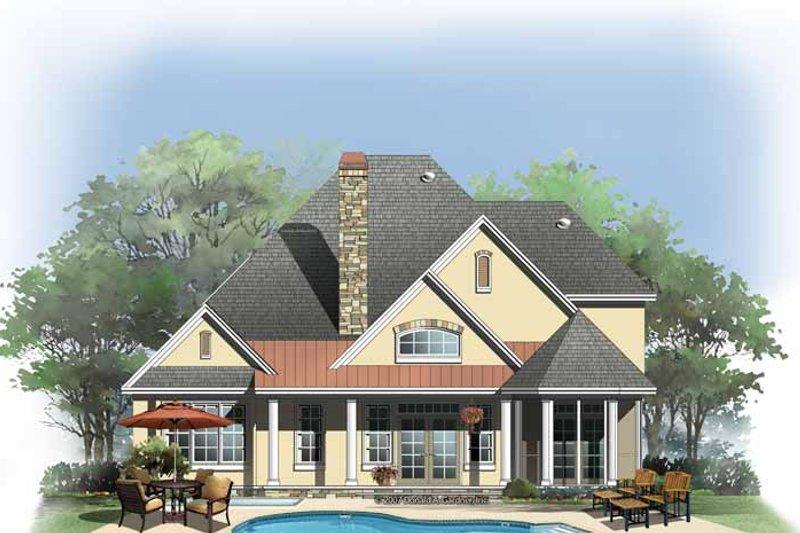 Cottage Exterior - Rear Elevation Plan #929-843 - Houseplans.com