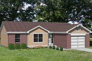 Ranch Style House Plan - 3 Beds 1 Baths 1008 Sq/Ft Plan #116-142 Exterior - Front Elevation