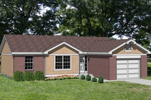 Ranch Exterior - Front Elevation Plan #116-142