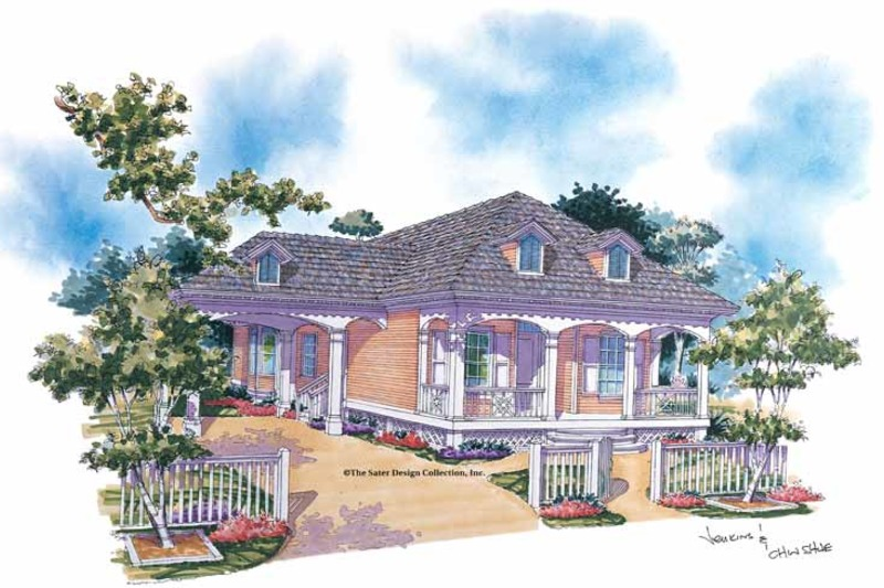 Country Exterior - Front Elevation Plan #930-77 - Houseplans.com