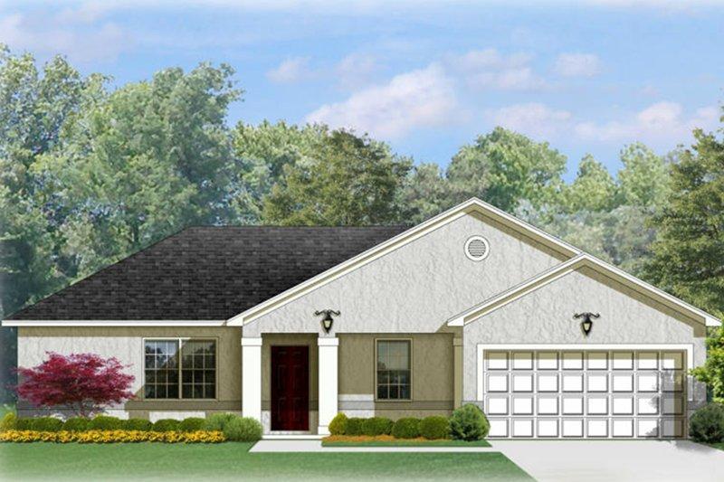 House Plan Design - Mediterranean Exterior - Front Elevation Plan #1058-92