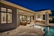 Mediterranean Style House Plan - 4 Beds 4.5 Baths 3042 Sq/Ft Plan #930-458 Exterior - Rear Elevation