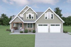 Craftsman Exterior - Front Elevation Plan #1070-148