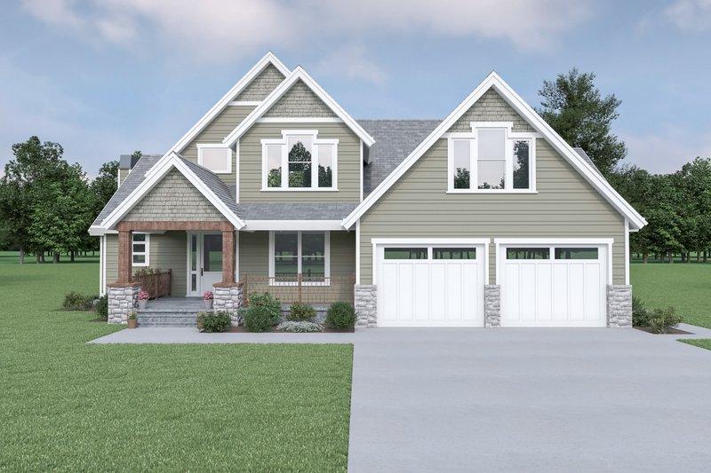 House Design - Craftsman Exterior - Front Elevation Plan #1070-148
