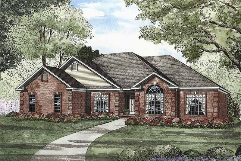Home Plan - Traditional Exterior - Front Elevation Plan #17-2880