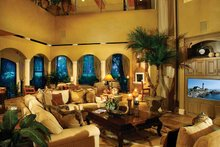 Mediterranean Interior - Family Room Plan #930-327